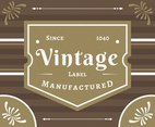 Vintage Labels Since 1040 Vector