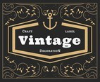Vintage Labels Decoration Vector