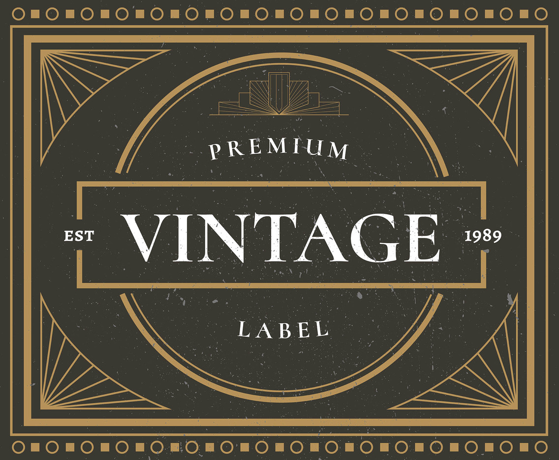 Premium Vintage Labels Vector