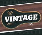 Vintage Labels With Axes Vector
