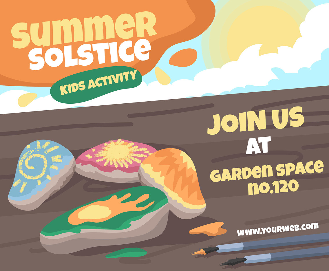 Summer Solstice For Kids Vector