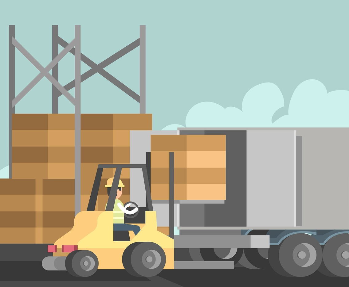 Loading Goods Logistics Vector