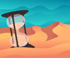 Hourglass Time Backgrounds Vector