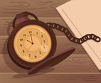 Pocketwatch Time Backgrounds Vector