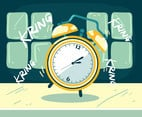 Alarm Clock Time Backgrounds Vector