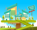 Green Energy Town Vector