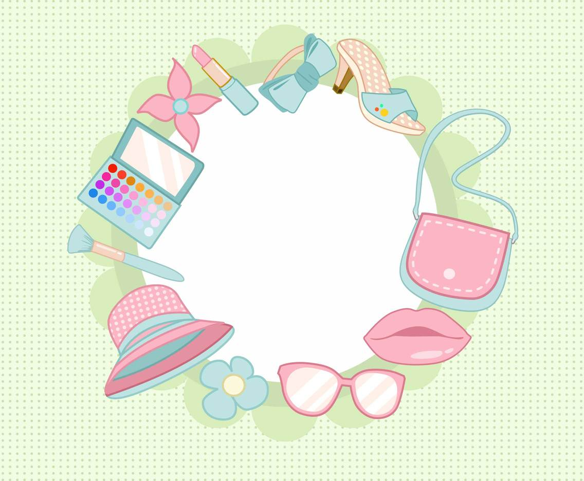 Shabby Chic Fashion Background Vector
