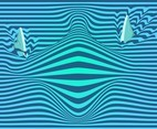 3D Wavy Stripes Vector