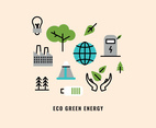 Outlined Icons About Green Energy