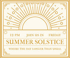 Summer Solstice Invitation Vector