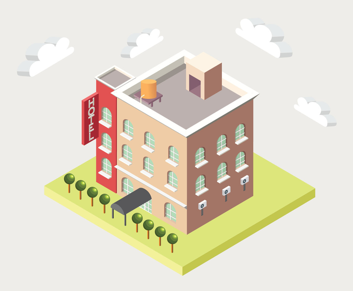 3D Building Vector Design