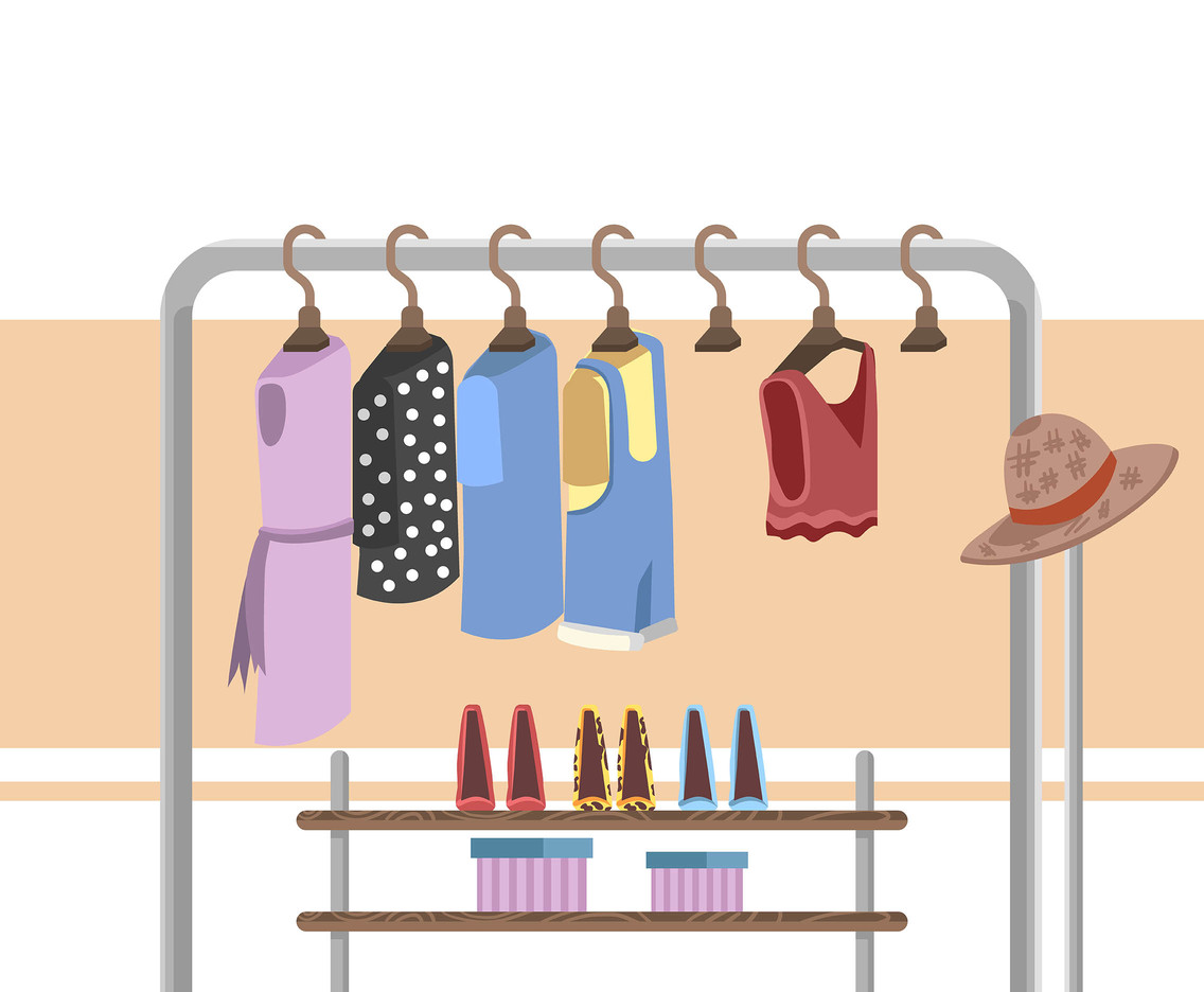 Wardrobe Fashion Background Vector