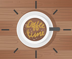 Coffee Time Backgrounds Vector