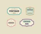 Unique Vintage Labels Vectors
