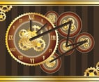 Time Backgrounds With Roman Numerals Vector