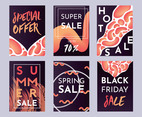Sale Announcement Flyer Vector Pack