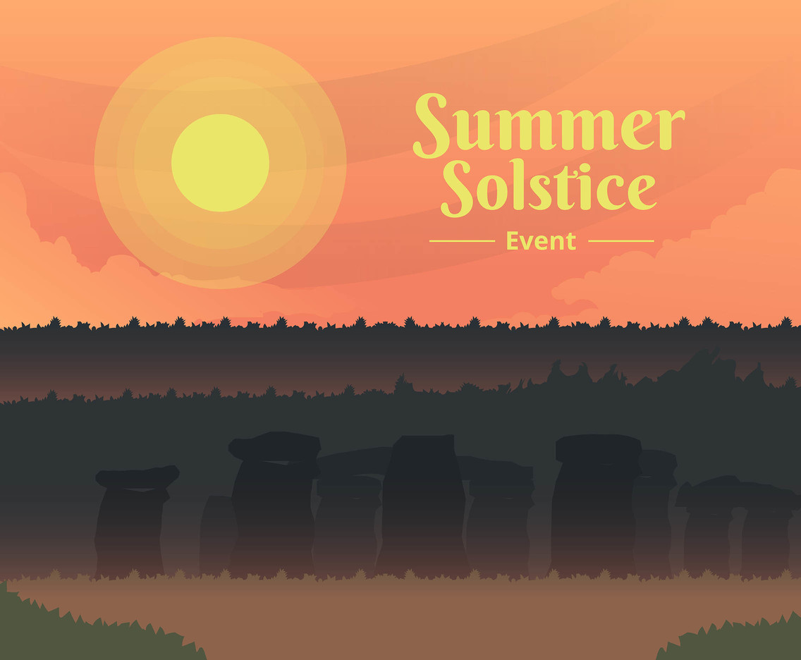 Summer Solstice Event Vector