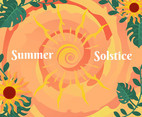 Summer Solstice Vector With Sunflower