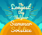 Summer Solstice Vector With Words