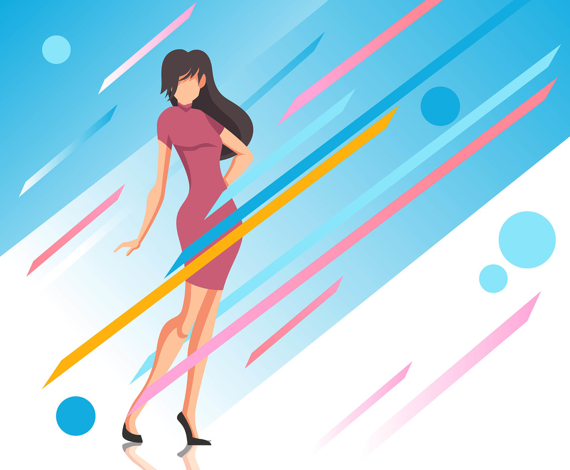 Fashion Background Model Vector