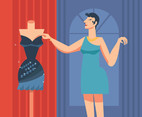 Dress Fashion Background Vector