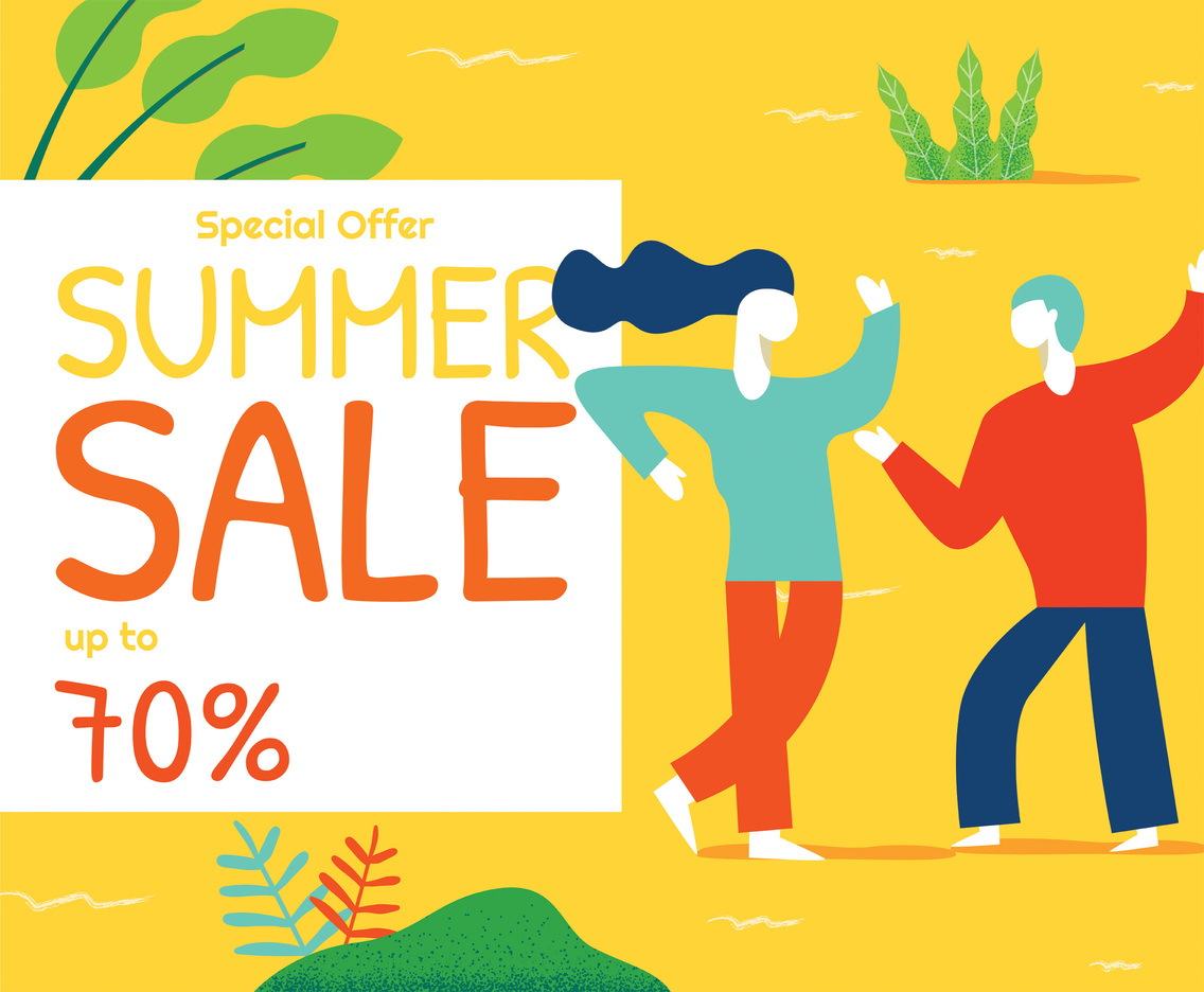 Special Offer Announcement Vector Design