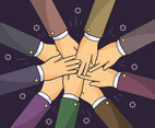 Hands Together Teamwork Vector