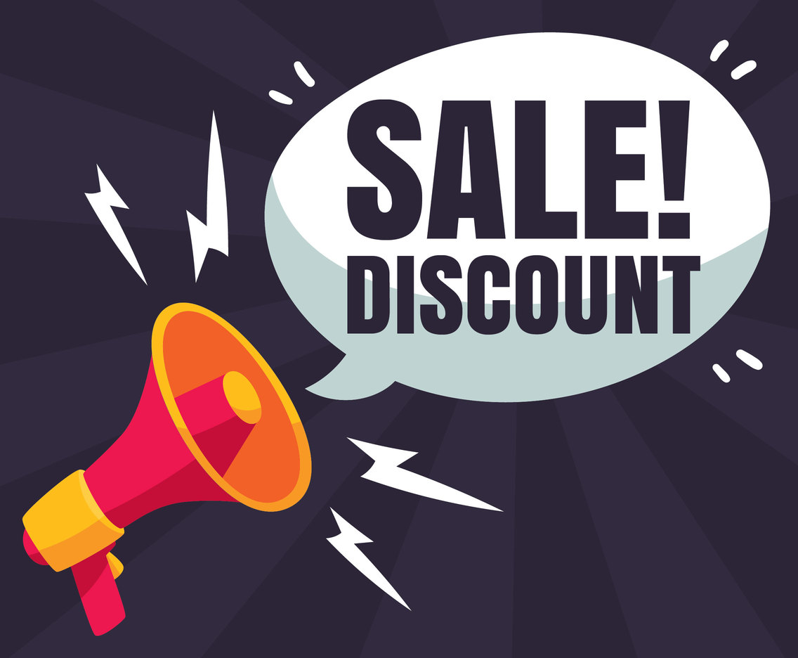 Sale Discount Special Announcement Vector