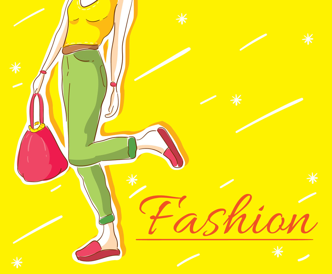 Yellow Fashion Background Vector