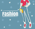 Blue Fashion Background Vector