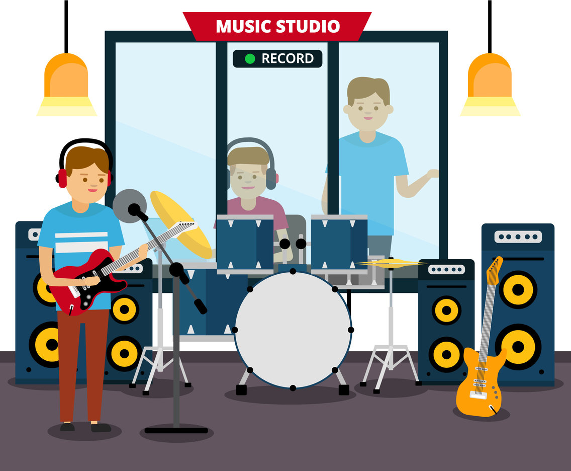Music Recording Vector