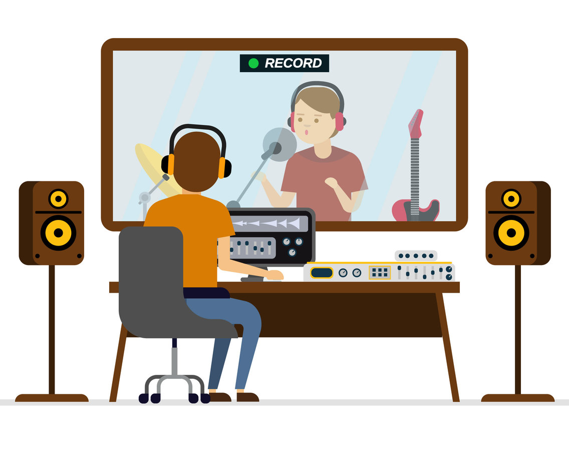Music Production Vector