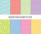White Modern hand Drawn Pattern Vector