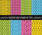 Colorful Modern Hand Drawn Pattern Vector