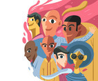 People of Color Illustration Vector