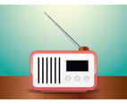 Retro Realistic Radio Illustration