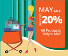 Product Sale Announcement Vector