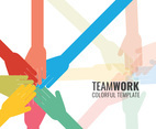 Colorful Teamwork Hands