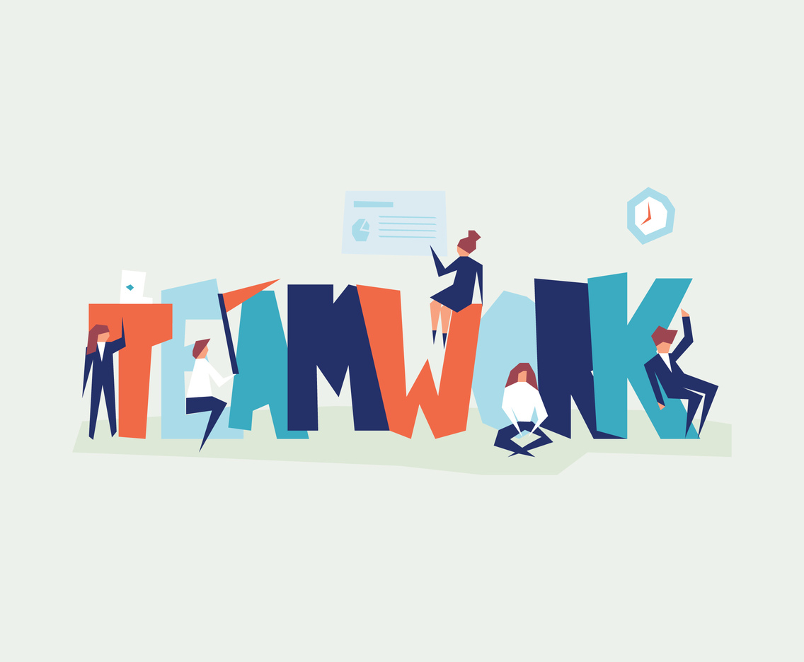 People And The Word Teamwork Vector Art & Graphics | freevector com