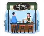Female Barista Vector
