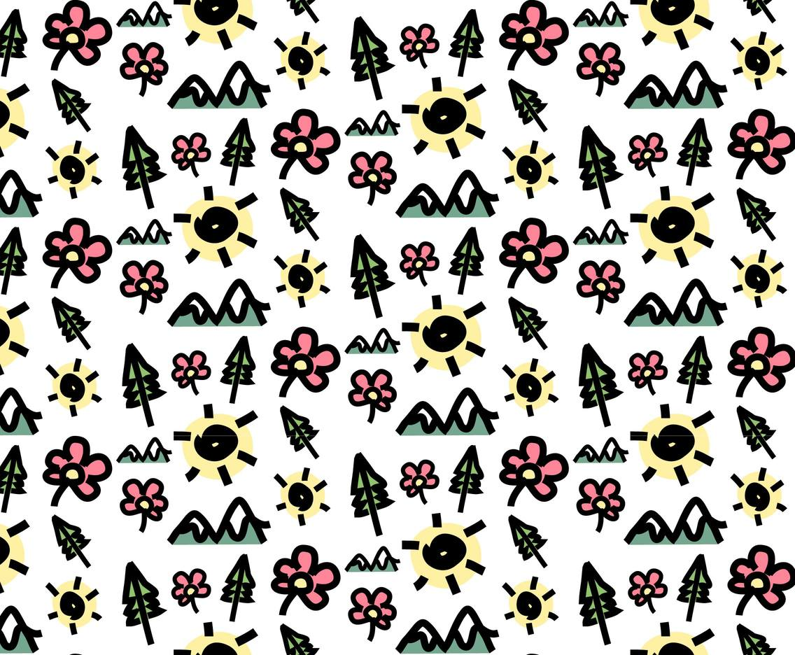 Modern Hand Drawn Pattern Vector 2