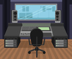 Recording Studio Desk Vector