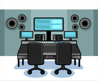 Recording Studio Equipment Vector