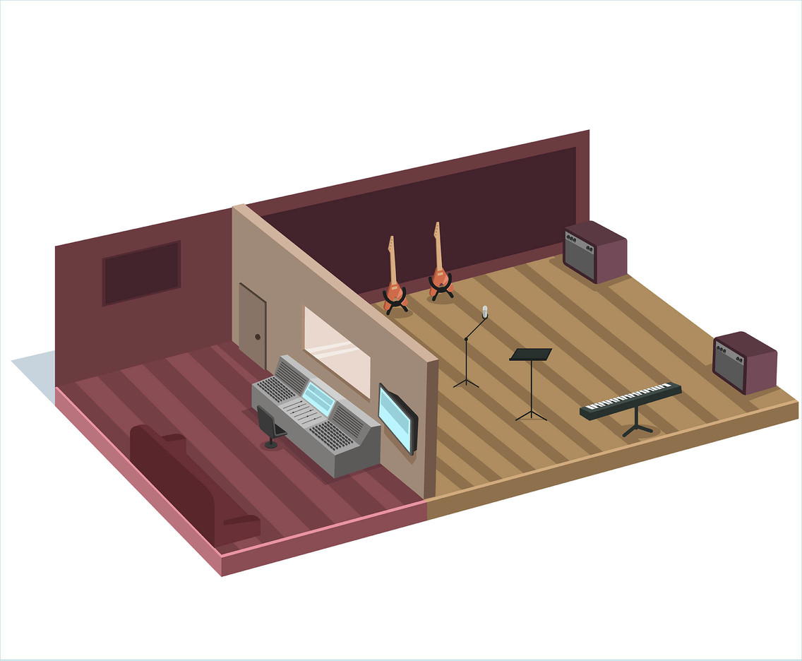 Recording Studio Layout Vector