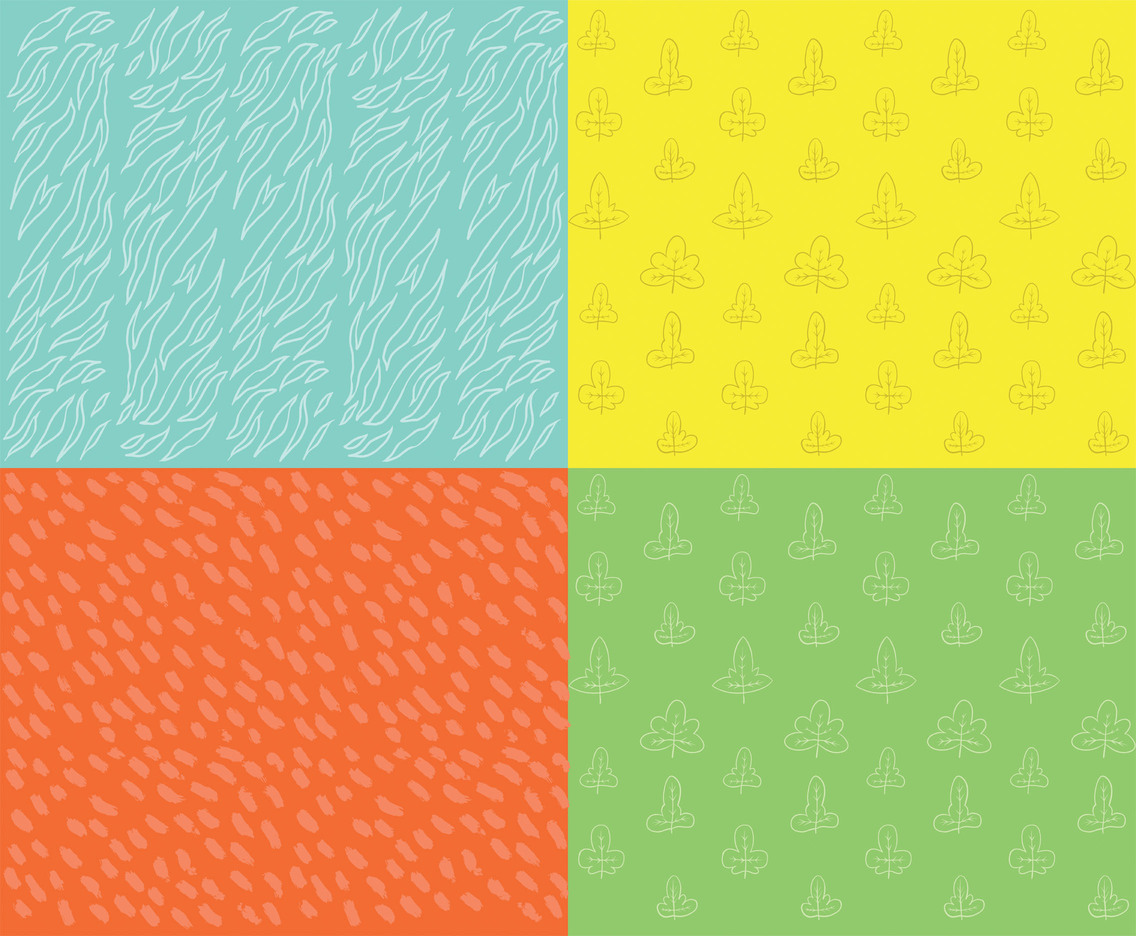 Modern Hand Drawn Vector Pattern