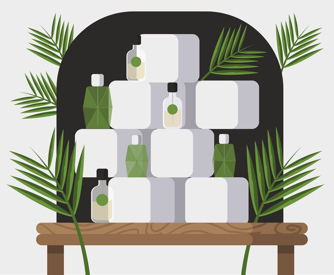 Perfume Product Display Vector