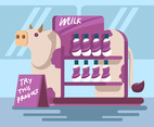 Milk Product Display Vector