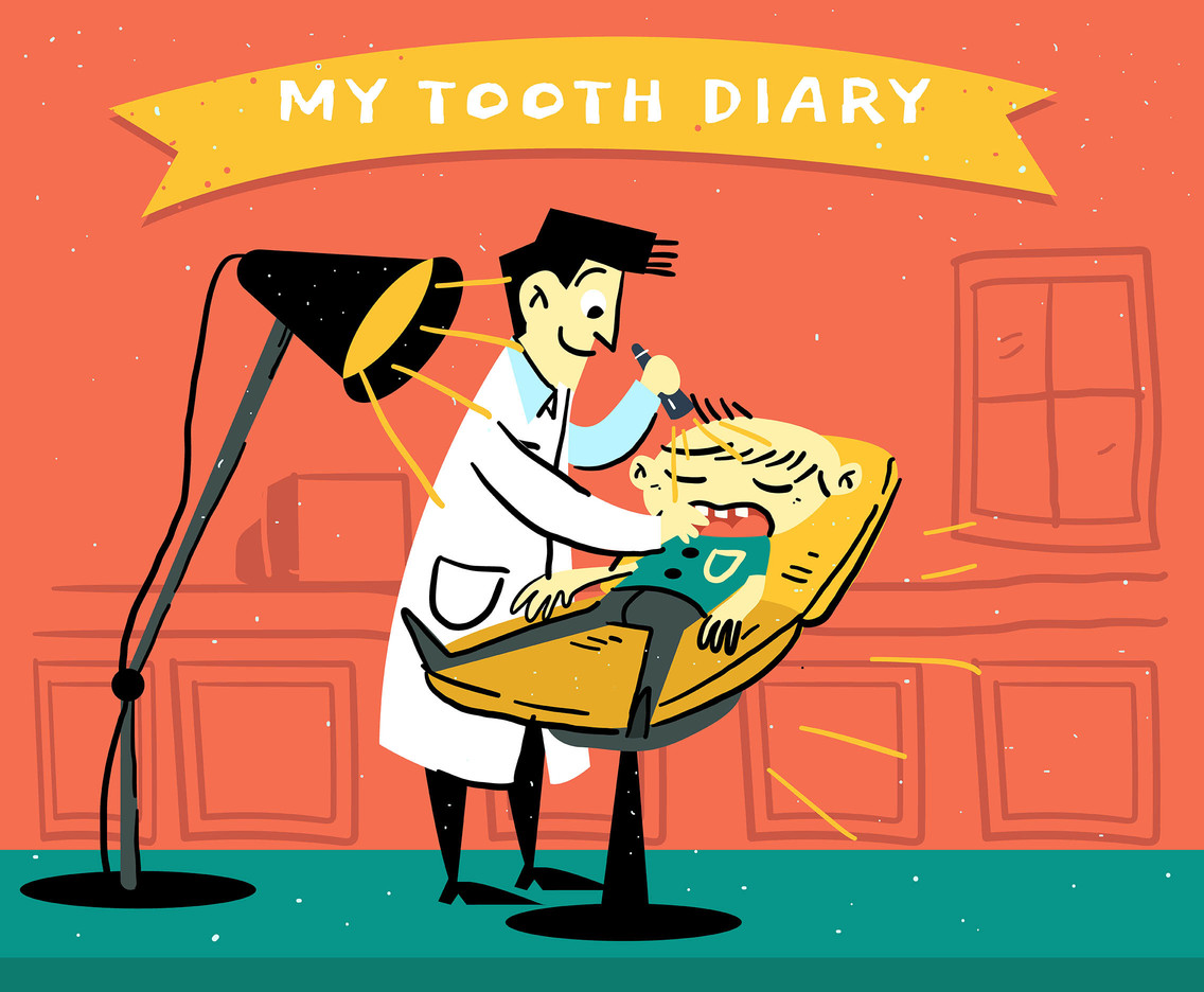 Retro Illustration of Dentistry
