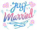 Just Married Hand Lettering