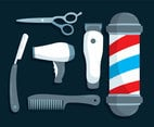 Barber Shop Element Vector
